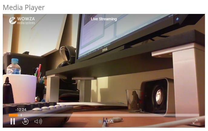 nDVR Live Streaming - Media Control Panel
