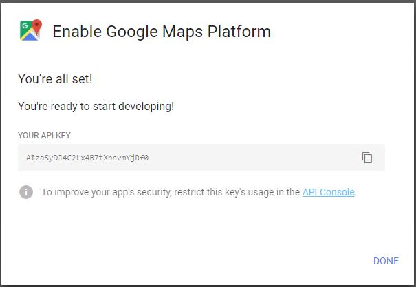 Configure Google Maps API Key - Media Control Panel